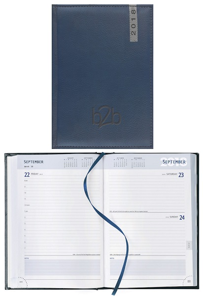 Santiago A5 Desk Diary - Page a Day - White Paper